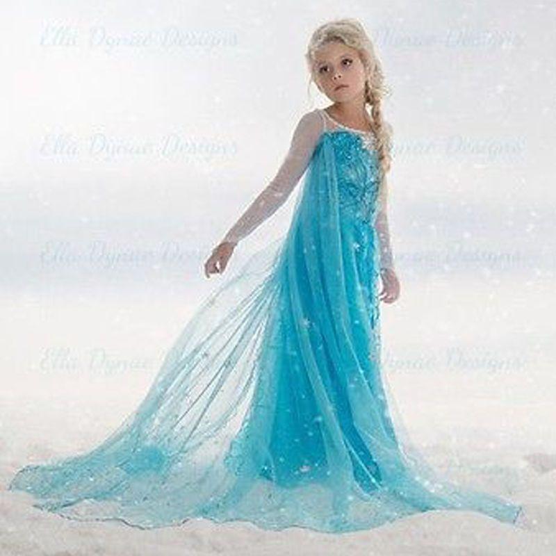 017e0f8e6 Details about 2018 new Girls dress costume Princess dress party ...