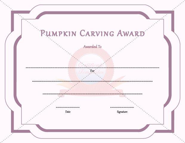 Pumpkin carving award general template templates pinterest template pumpkin carving award yadclub Images