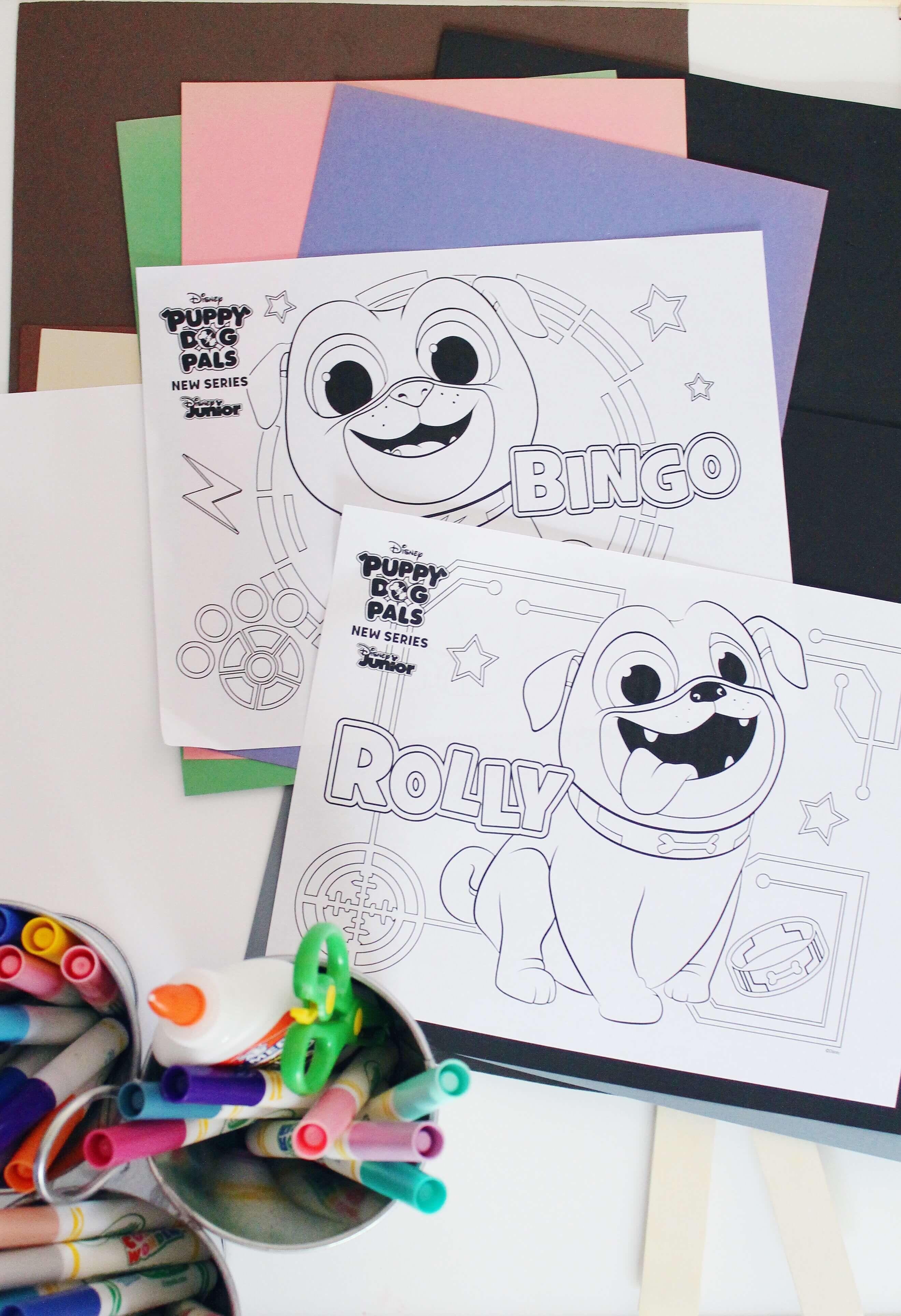 Summer Crafting Disney Junior Puppy Dog Pals Diy Disney Junior