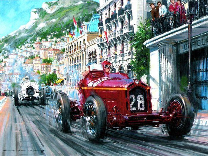 Monaco 1932.Tazio Nuvolari