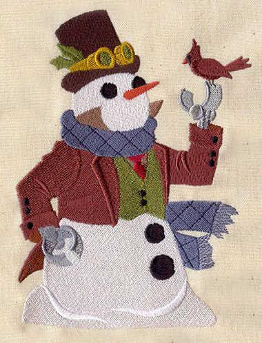 Steampunk Snowman   This snowman is dressed to the nines for winter festivities, from ...