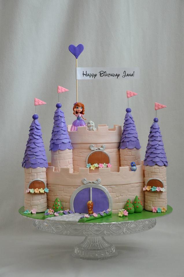 Sofia The First Castle Cake Recipies In 2018 Pinterest Sofia