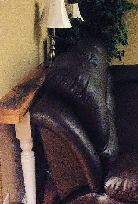Skinny Couch Table von DAngeloWoodcraft auf Etsy