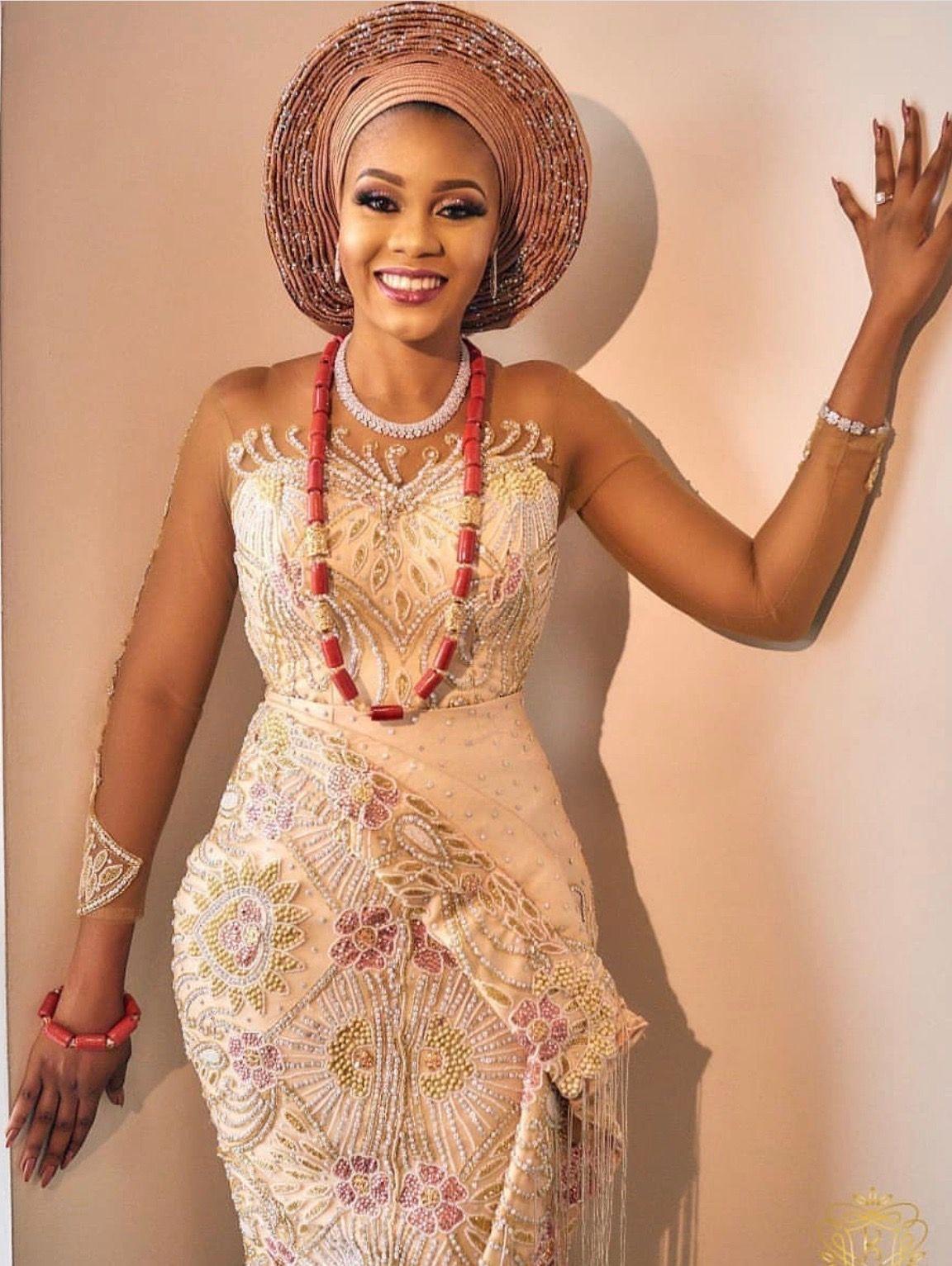 Dress Idea Lace Nigerian Wedding Dresses Traditional African