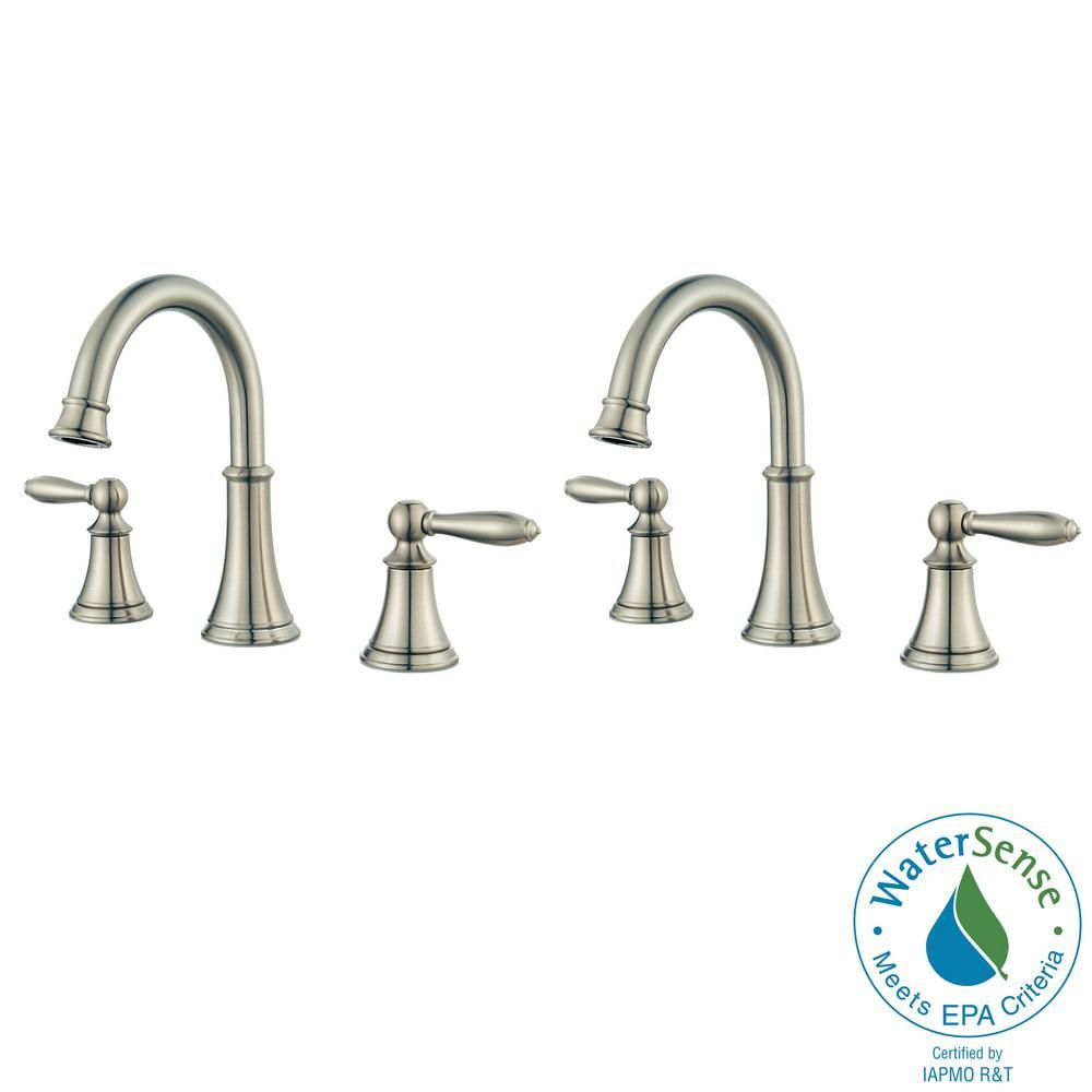Pfister Courant 8 In Widespread 2 Handle Bathroom Faucet In Brushed