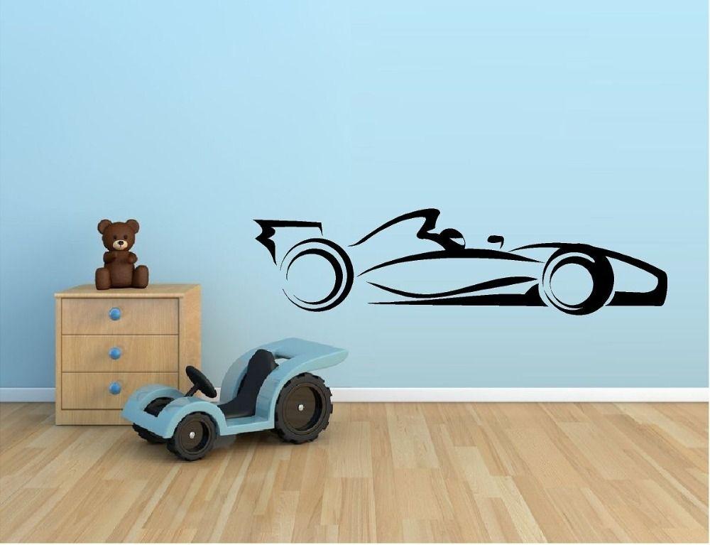 Hot Selling Racing Car Vinyl Wall Sticker Indy Car F1 Nascar