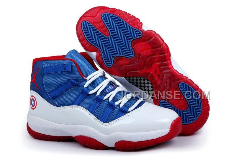 new style 37e9d bb235 Buy Ireland Jordan Captain America 2014 Nike New Jordan 11 Xi Retro Mens  Shoes Big Discount from Reliable Ireland Jordan Captain America 2014 Nike  New ...
