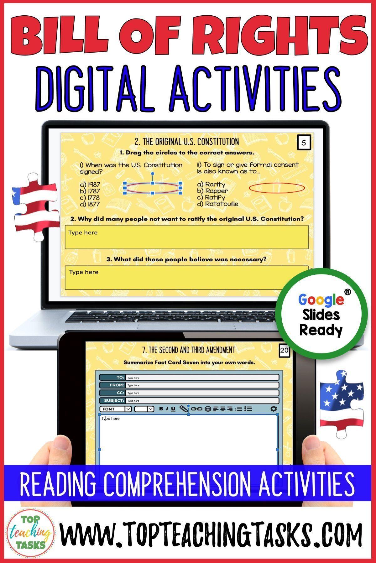 Bill Of Rights Activity Google Classroom Reading Comprehension Activity Reading Comprehension Reading Comprehension Activities Google Classroom Reading [ 1797 x 1200 Pixel ]