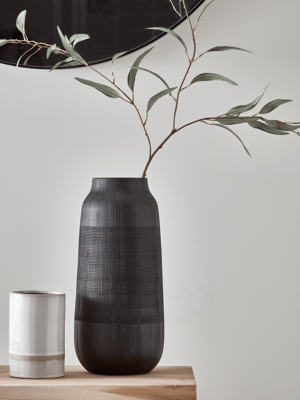 Black Jar Vase -   14 home accessories Grey interior design ideas