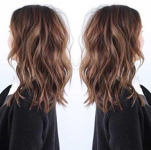 coupe cheveux mi long brune 2017