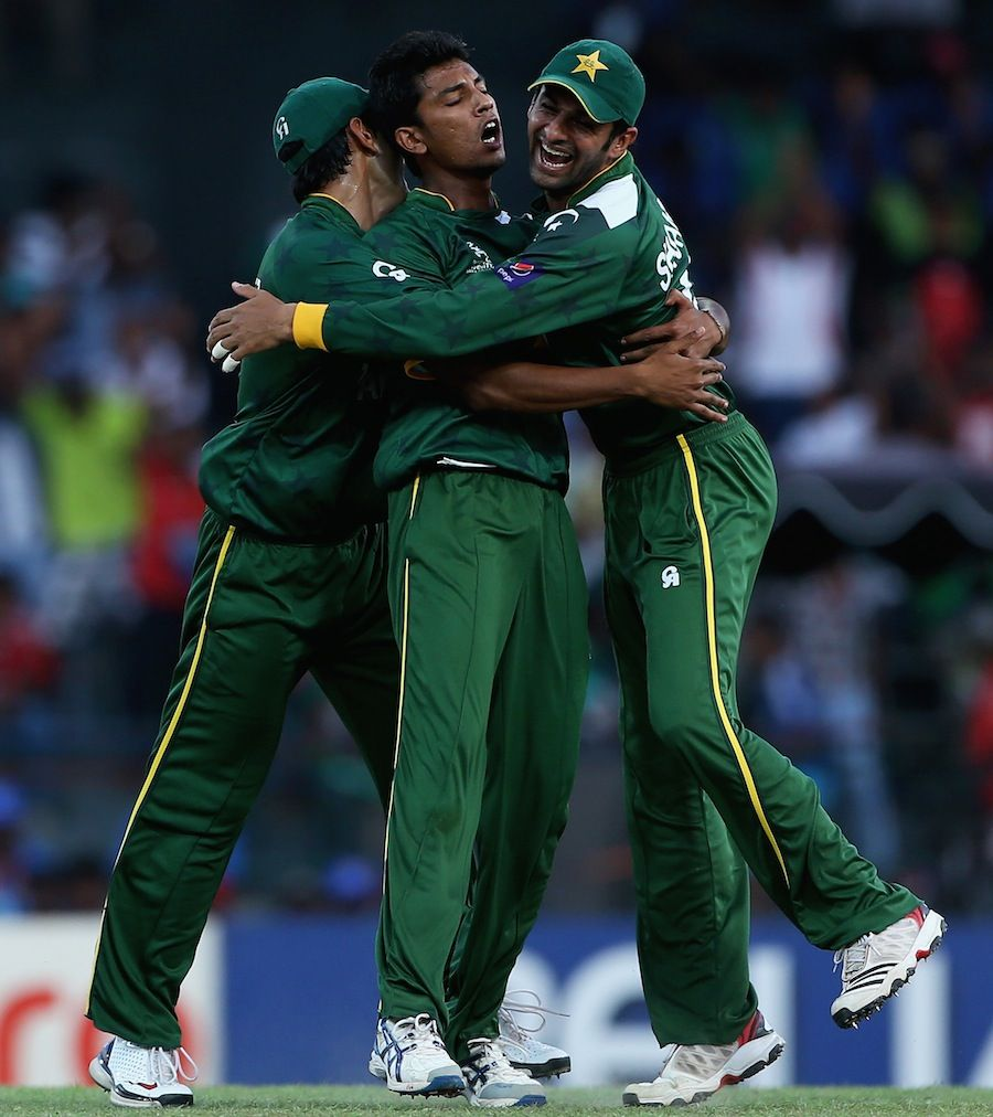Raza Hasan Celebrates The Wicket Of Shane Watson