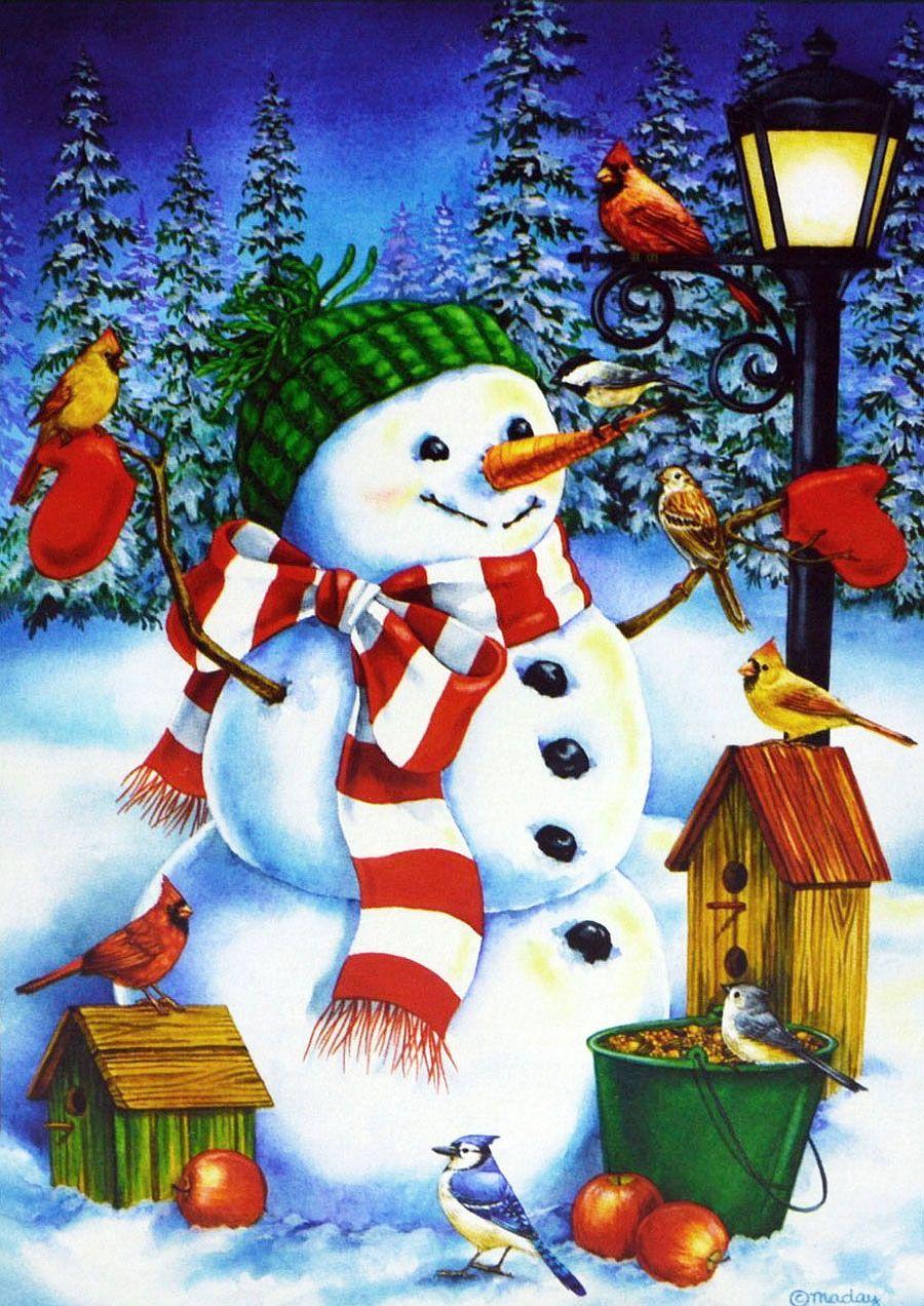 Картинки, открытки с зимним спасибо