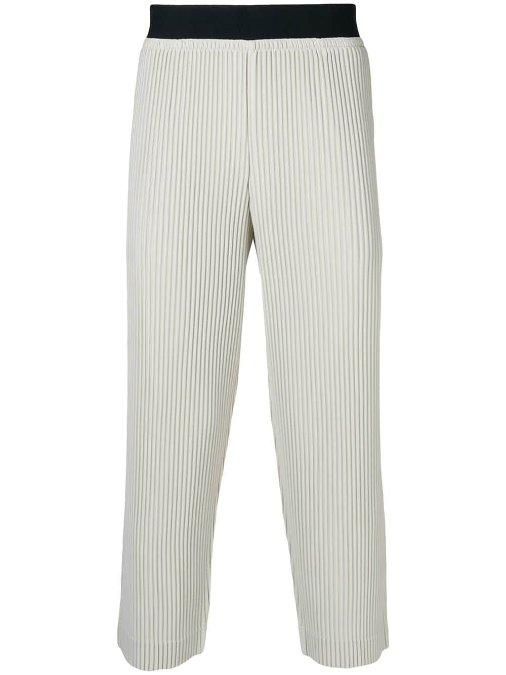 be2d6918e HOMME PLISSE ISSEY MIYAKE HOMME PLISSÉ ISSEY MIYAKE PLEATED TRACK PANTS -  NEUTRALS. #hommeplisseisseymiyake #cloth