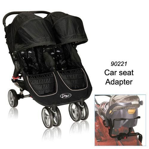 Baby Jogger 12210 City Mini Double Stroller In Black Gray With Car