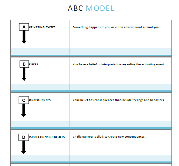 Abc worksheet therapy