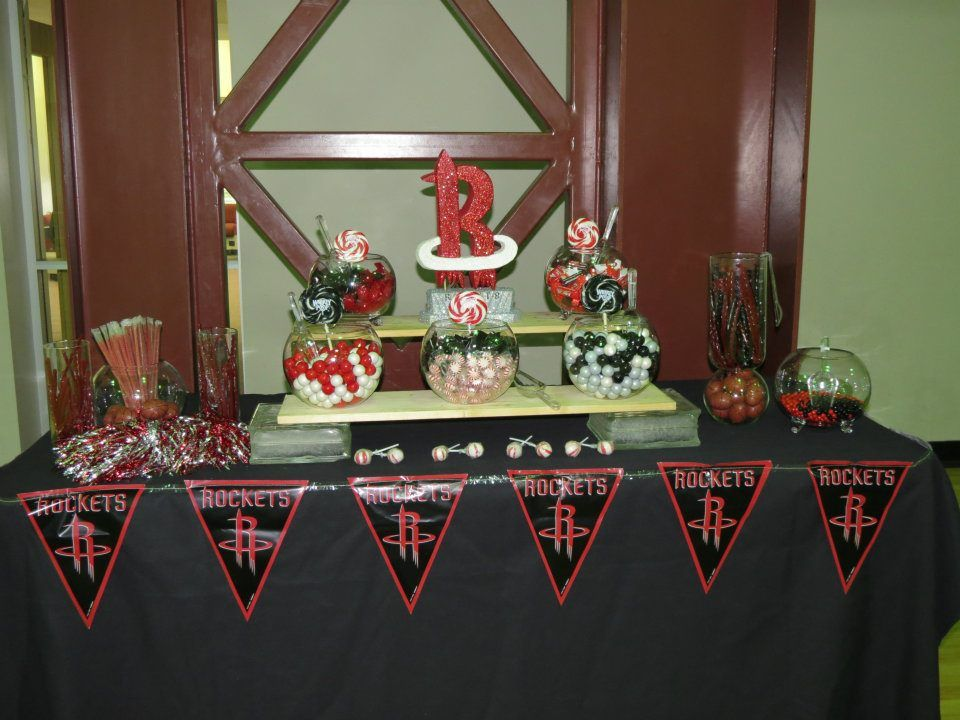 Houston Rockets Themed Candy Bar Rocket Birthday Parties Rocket Party Baby Shower Themes