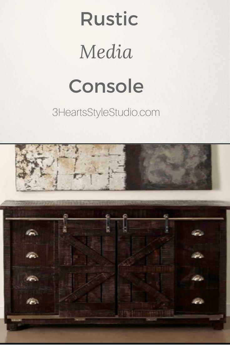 Furniture | Furniture, Rustic media console, Barn door ...