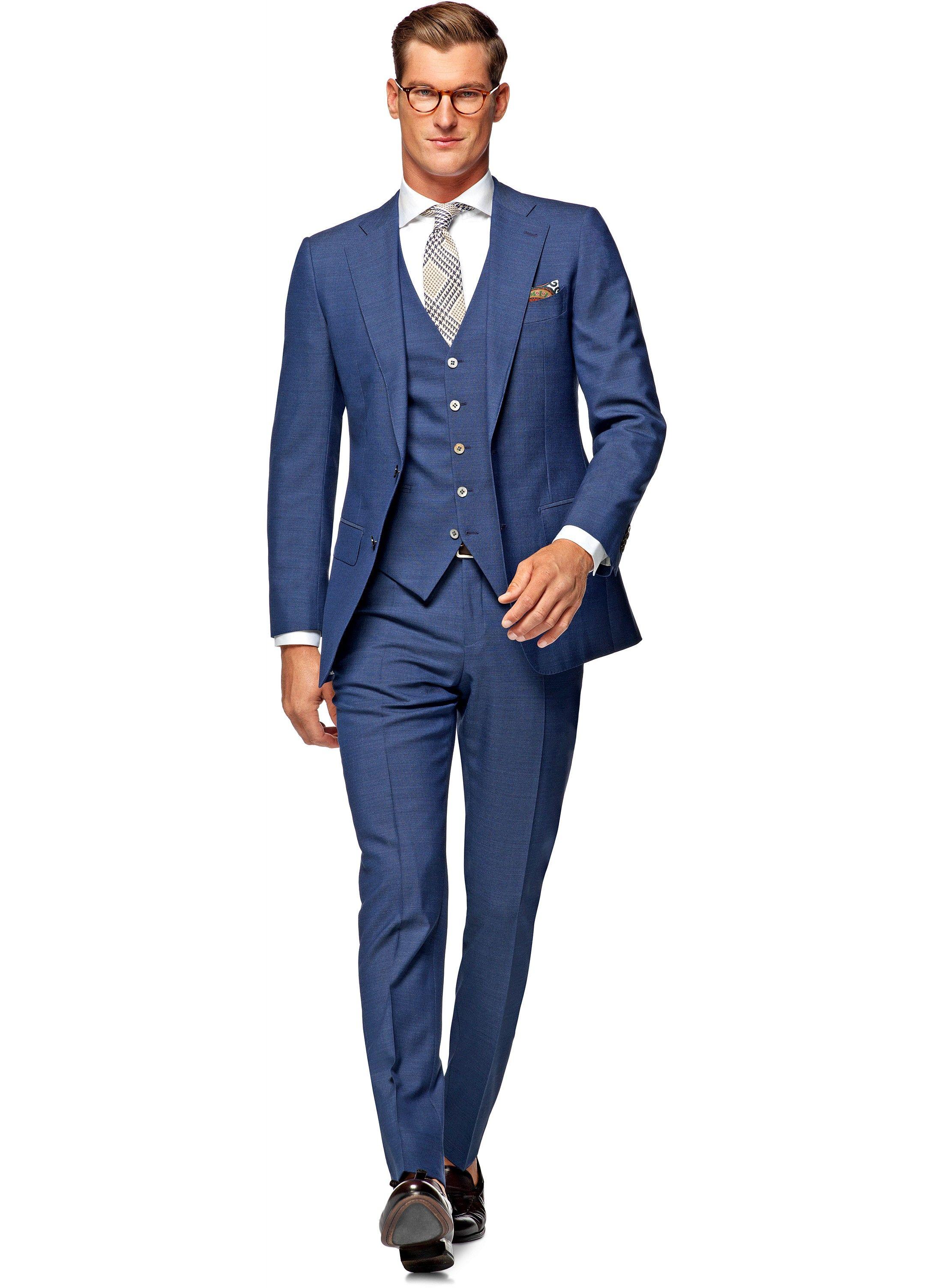 Suit Blue Plain Lazio P4259i Suitsupply Online Store My Style