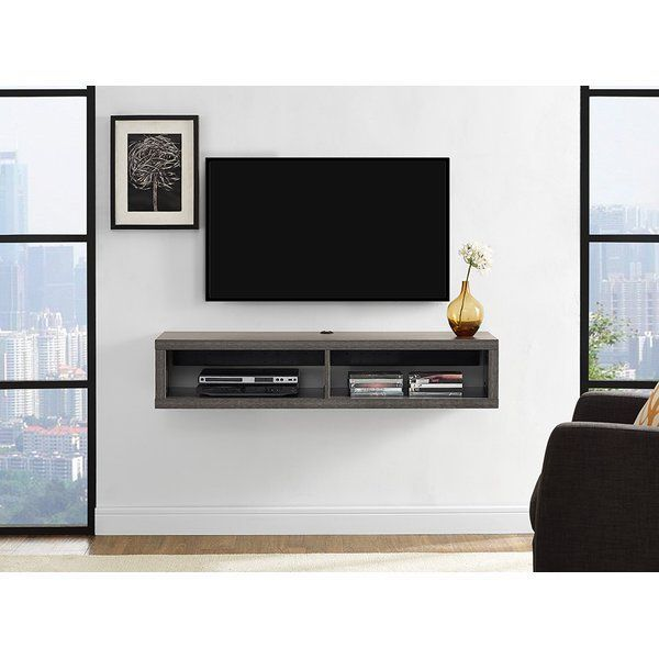 The 48 Shallow Wall Mounted Tv Component Shelf Creates A Contemporary Yet Clical Look That Is Functional And Very Upscale