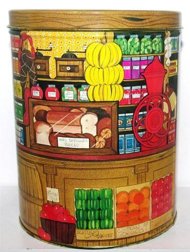 Hallmark Country General Store Mercantile Shop Tin Box