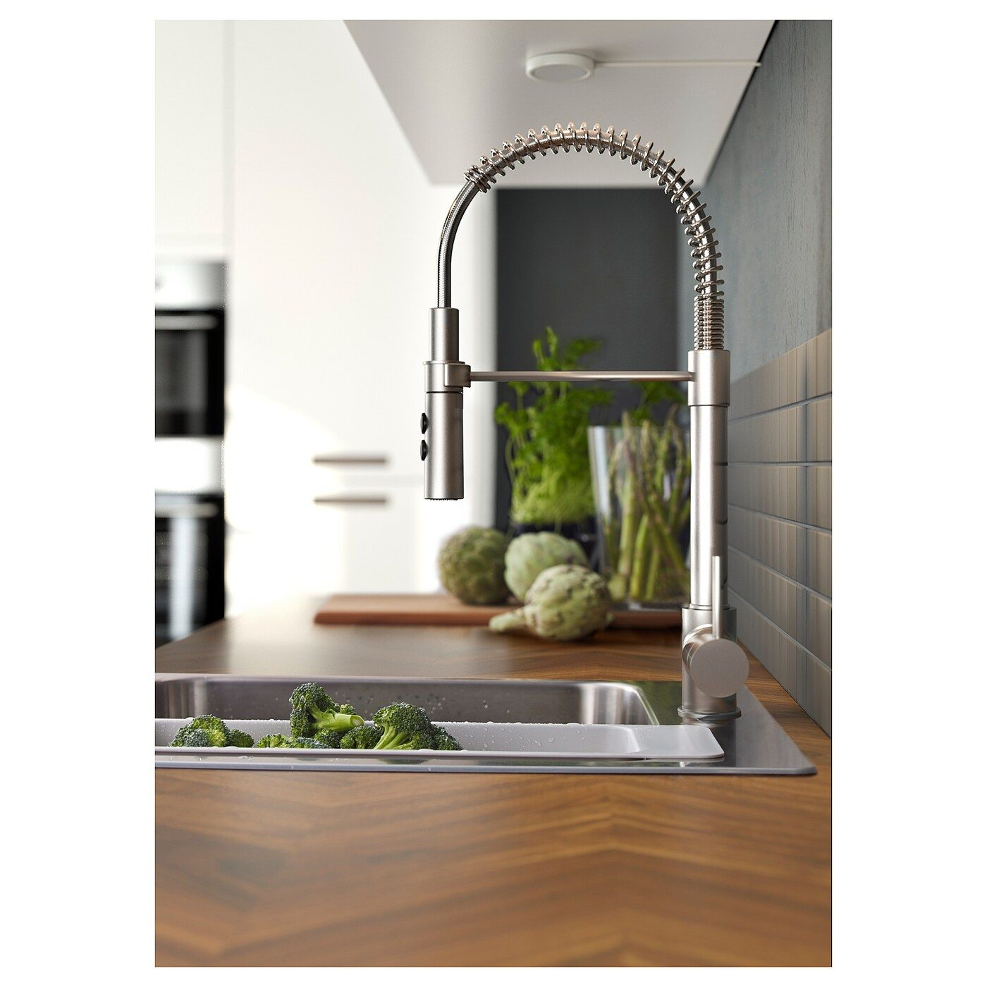 Barkaboda Massarbeitsplatte Nussbaum Furnier Kuchenarmaturen Arbeitsplatte Und Ikea Ideen