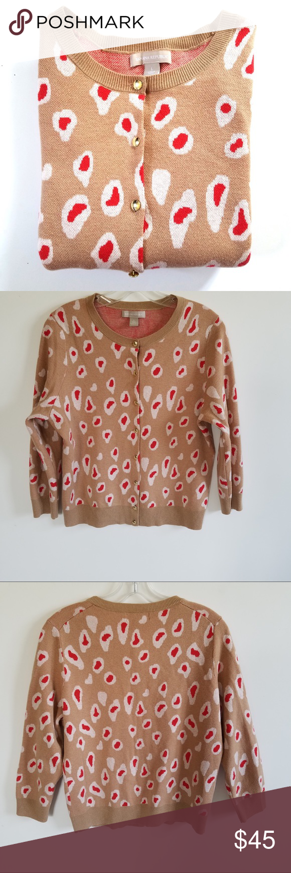 NWOT Banana Republic Leopard Print Cardigan | Banana republic ...