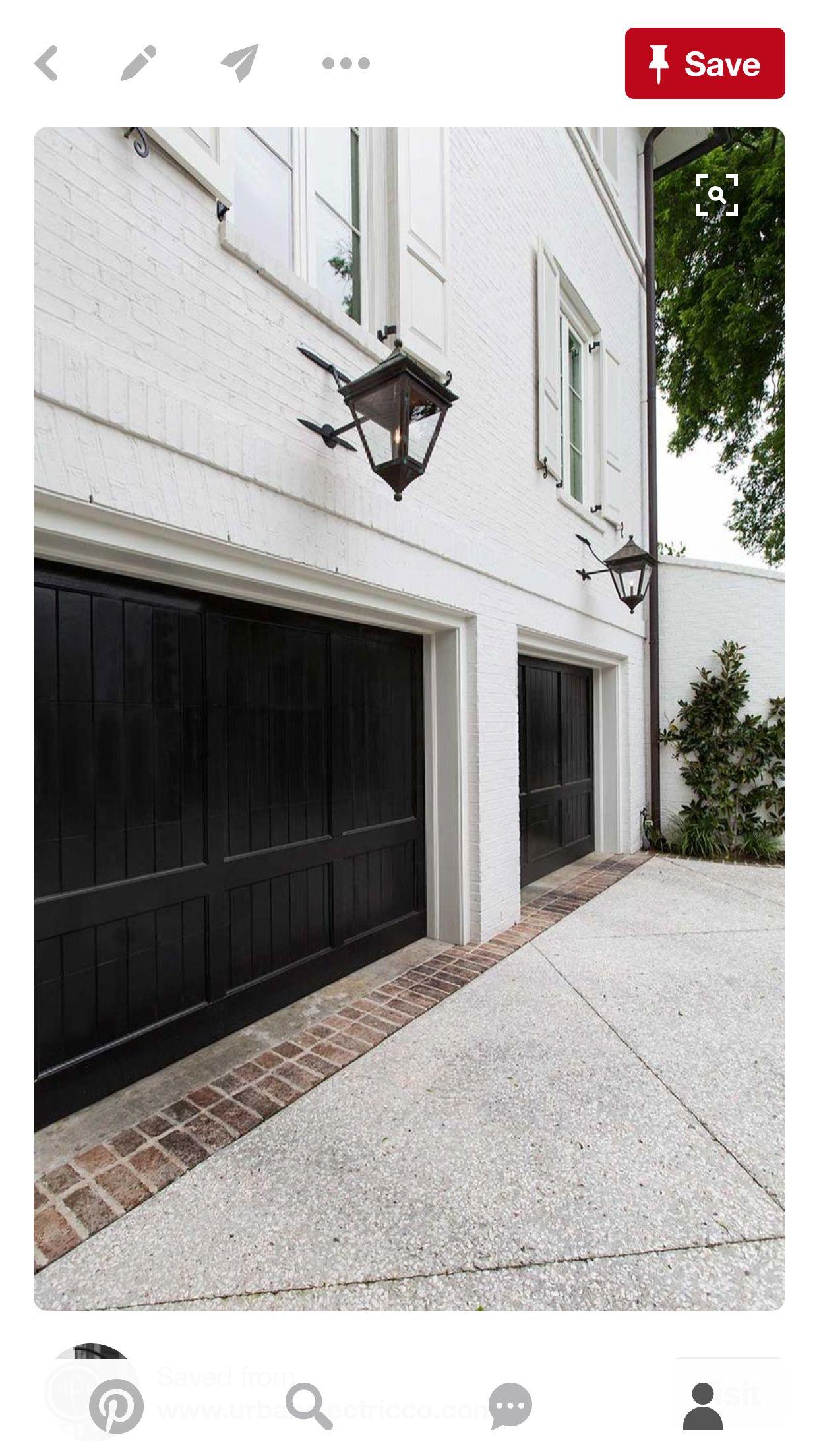 Pin By Nancy Crawford On Exterior House Garage Door Design
