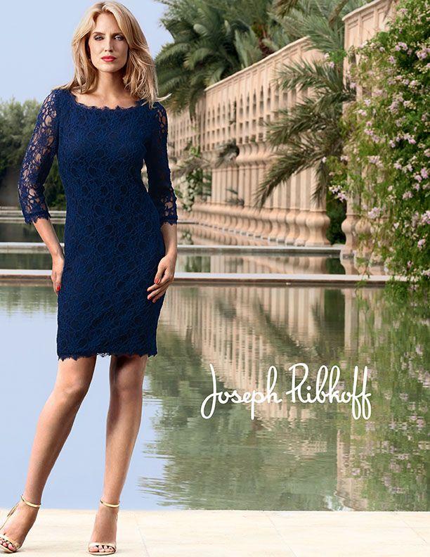 Super blauw kanten jurkje van #Joseph Ribkoff #Voila Rotterdam (met VC-65