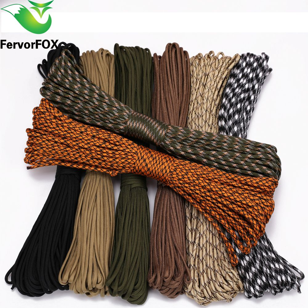 FervorFOX 90 color Paracord 550 Parachute Cord Lanyard Rope Mil Spec ...