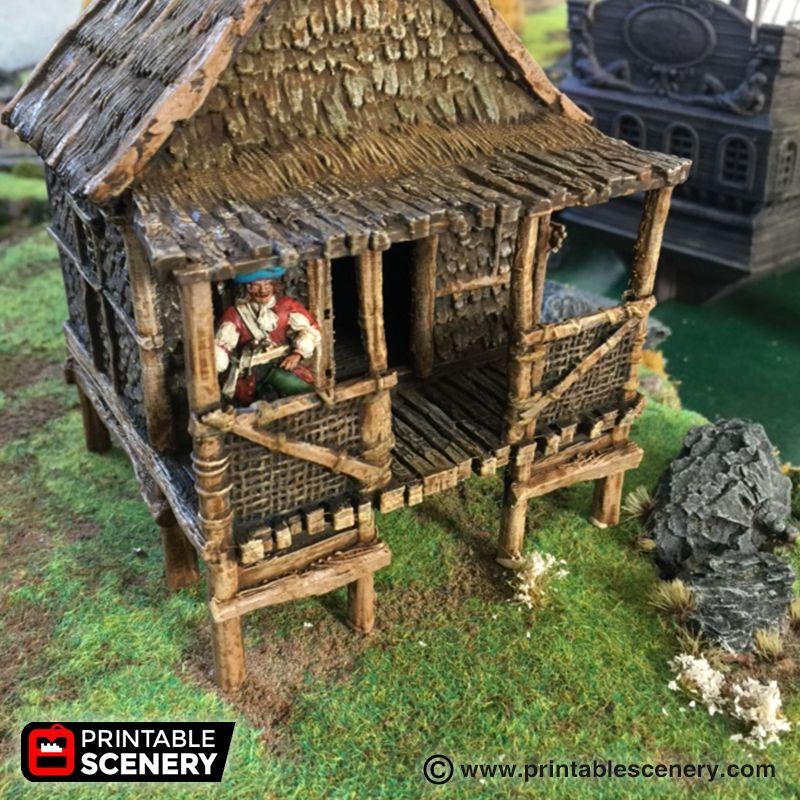 Caribbean Shack | Terrain - Pirate/Age of Sail | Diy shed