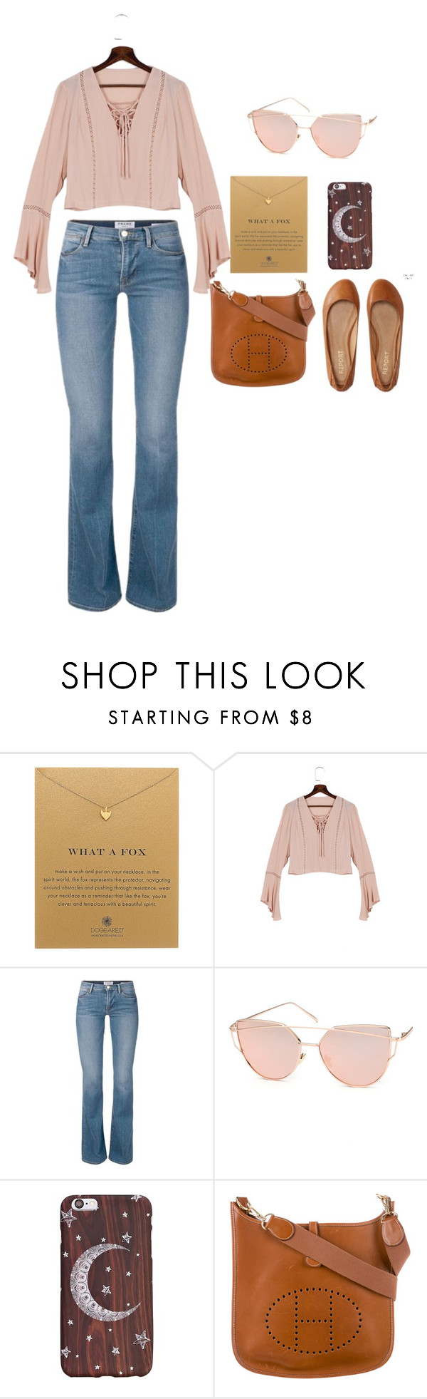 """""""Untitled #45"""" by elizzy1202 on Polyvore featuring Dogeared, Chicnova Fashion, Hermès and Aéropostale"""