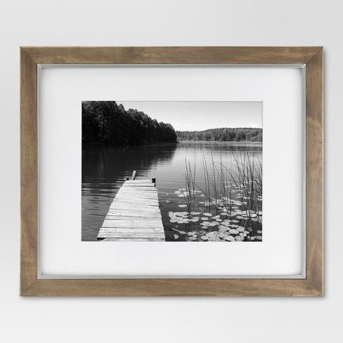 16 X 20 Matted To 11 X 14 Wood And Metal Edge Frame Brown Threshold Picture Frames Frames On Wall Entryway Inspiration