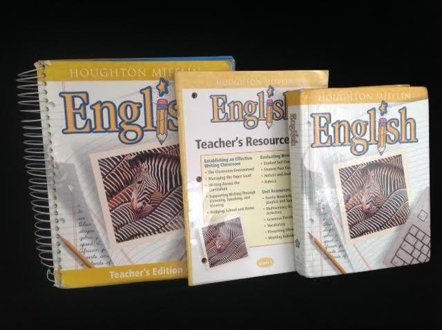 Houghton Mifflin English 5 Teacher Ed Student Resource Bk Good Homeschool Textbook Student Resources Teacher Resources Homeschool