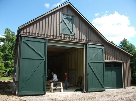24 X40 Custom Garage W 9 Pitch Attic Truss Rv Garage Barn