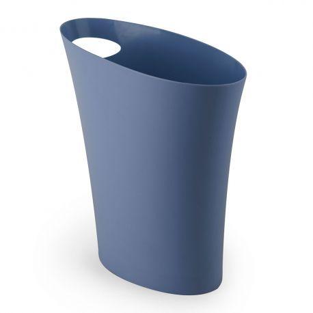 Corbeille A Papier Bleue Poubelle De Bureau Skinny Par Umbra Corbeille Papier Poubelle Pour Salle De Bain Poubelle