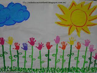 Mural De La Primavera Infantil