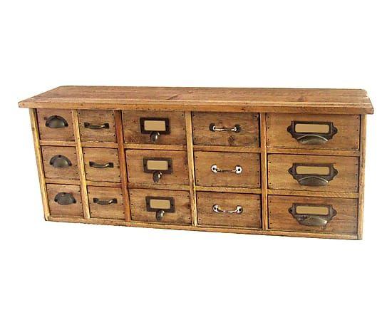 Hochkommode Usine Meubles Commode loft métal commode armoire à pharmacie vintage