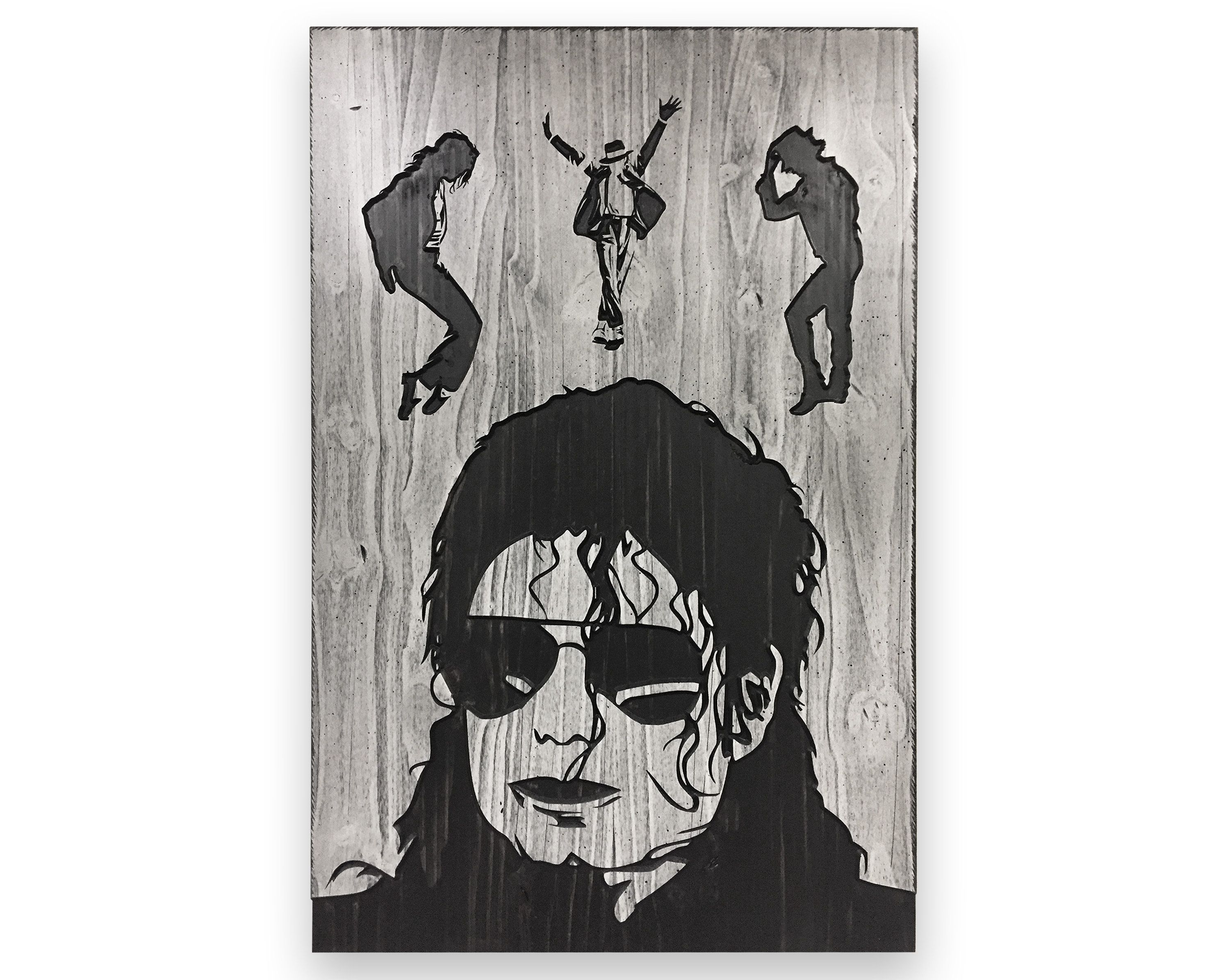 3d Wall Art Carved Michael Jackson Art King Of Pop Wood Wall