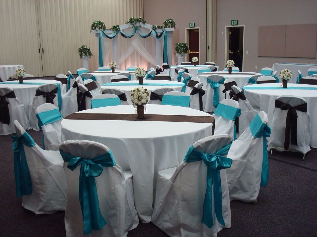 Aqua Black And White Simple Wedding Reception Decorations My