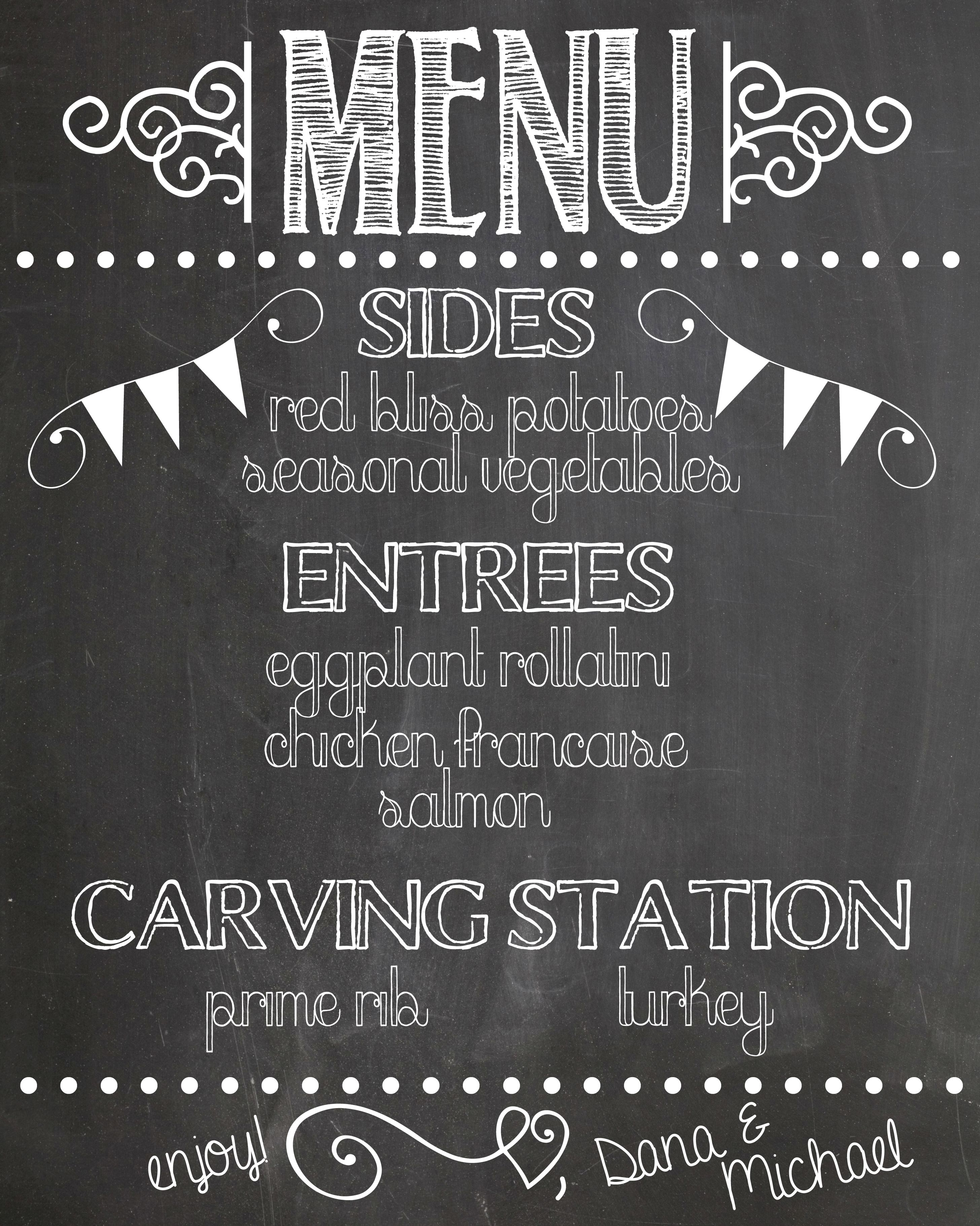 chalkboard menu archives handmade is better fonts pinterest