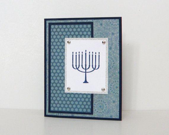 Handmade Hanukkah Cards Happy Hanukkah Embossed by k8cards, $3.50