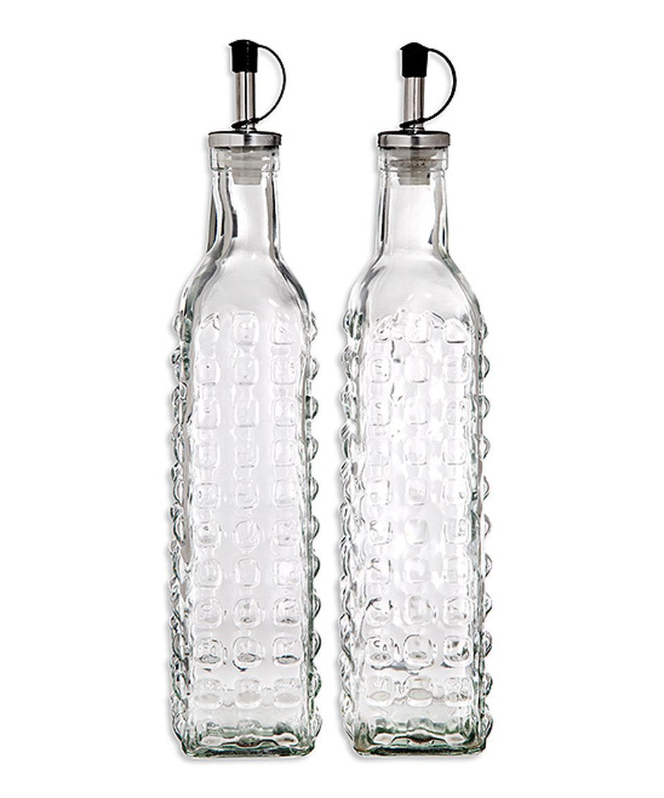 look at this zulilyfind oil vinegar bottle set by home essentials and beyond zulilyfinds on kitchen organization oil and vinegar id=33277