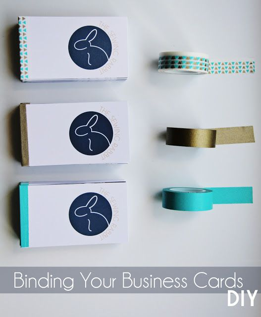 Turn Your Business Cards Into A Mini Book The Sewing Rabbit Diy Business Cards Card Book Brand Identity Business Cards