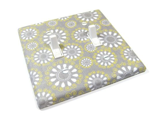 Spring Home Decor Gray White and Yellow Teardrop by ModernSwitch, $12.00