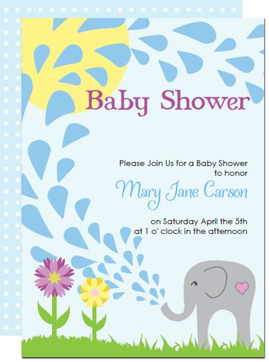 Printable elephant baby shower invitations templates invitations print and make your own unique baby shower invitations kits include everything form invitations and thank you notes to cupcake toppers filmwisefo Gallery