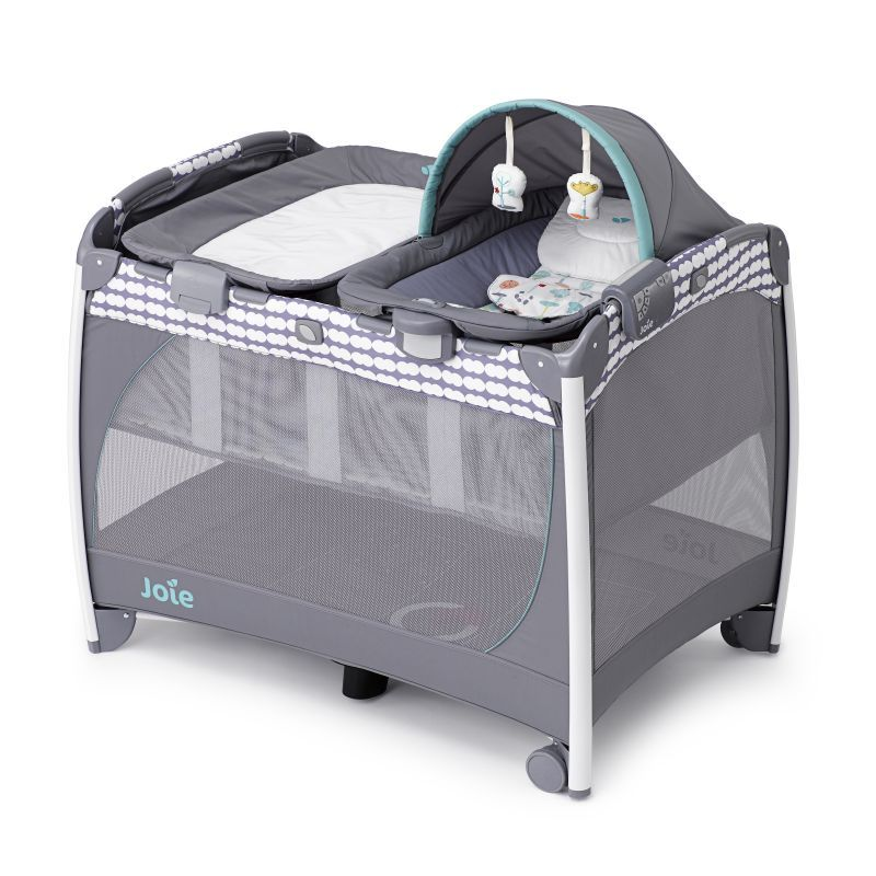 Joie Excursion Change Rock Travel Cot Petite Trees