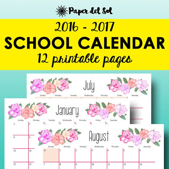 monthly planner 2016 2017 academic calendar 2016 2017 have a look