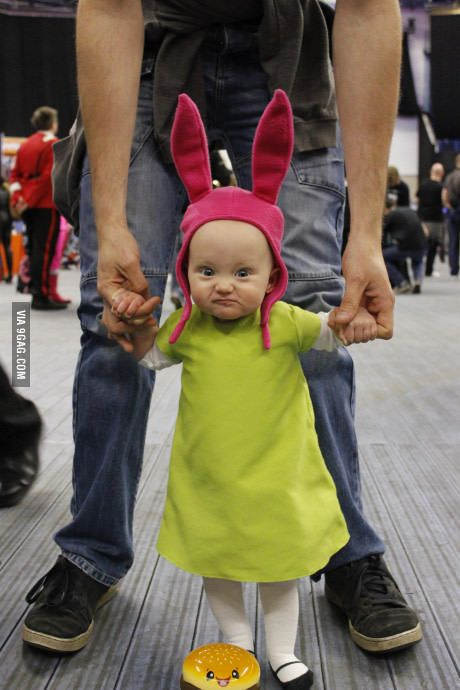 93b36961756 10 months old and already nailed Louise Belcher s attitude