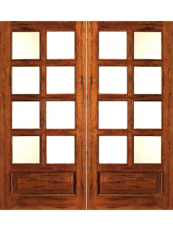 Rustic 8 Lite P B French Solid Wood 1 Panel Ig Glass Double Door French Doors French Doors Interior French Door Shutters