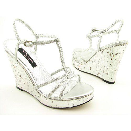 nina calinda silver platform wedge sandal infobarrel
